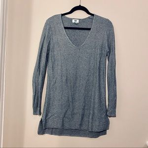 Old Navy gray lightweight knit sweater